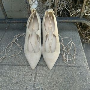 M. Gemi Brezza Pointed Wrap Around Flats